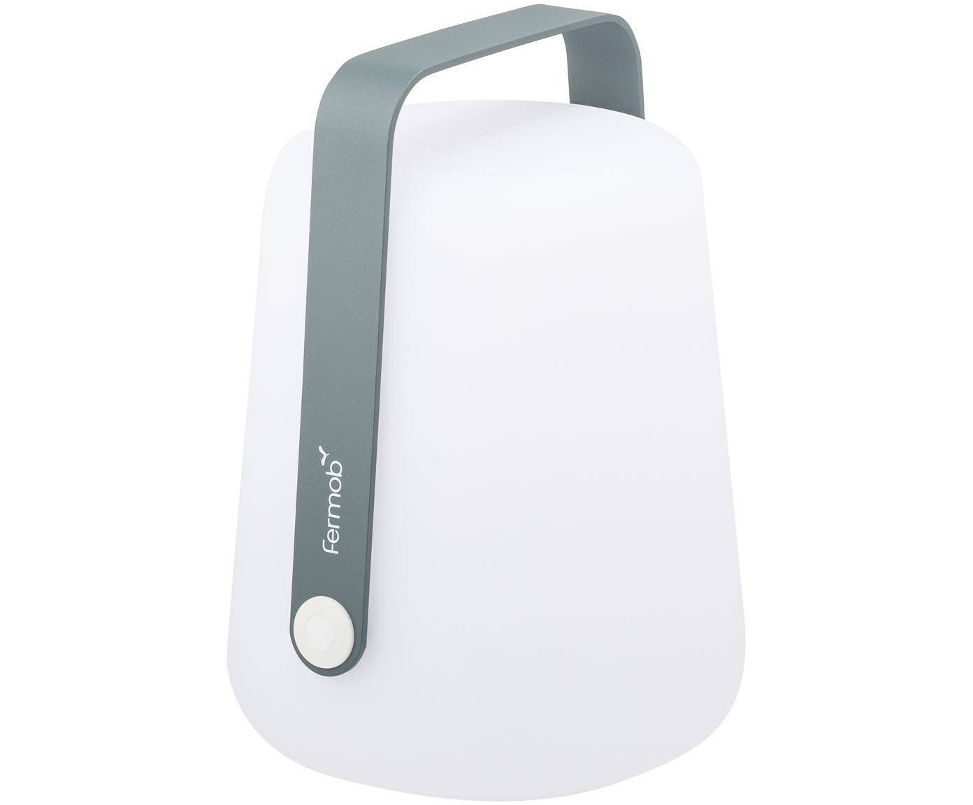 Lámpara LED para exterior Balad, portátil, Lámpara: polietileno, tratado para, Asa: aluminio, pintado, Gris, Ø 19 x Al 25 cm
