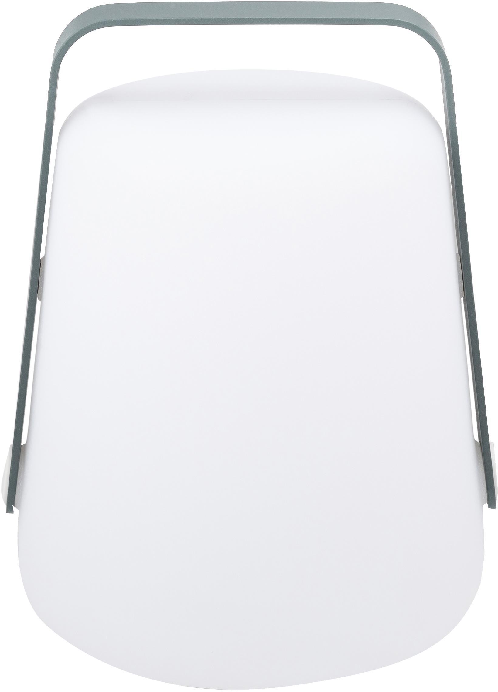 Mobile LED Aussenleuchte Balad, Lampenschirm: Polyethen, für den Aussen, Griff: Aluminium, lackiert, Gewittergrau, Ø 19 x H 25 cm