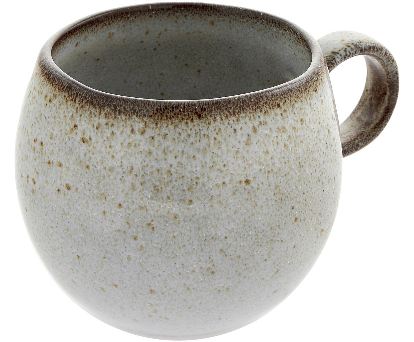 Handgemaakte mok Sandrine, Keramiek, Lichtgrijs, Ø 10 x H 10 cm
