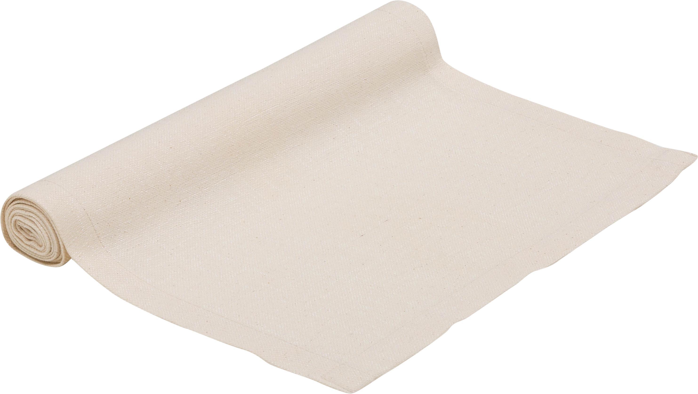Runner da tavolo Riva, 55% cotone, 45% poliestere, Beige, Larg. 40 x Lung. 150 cm