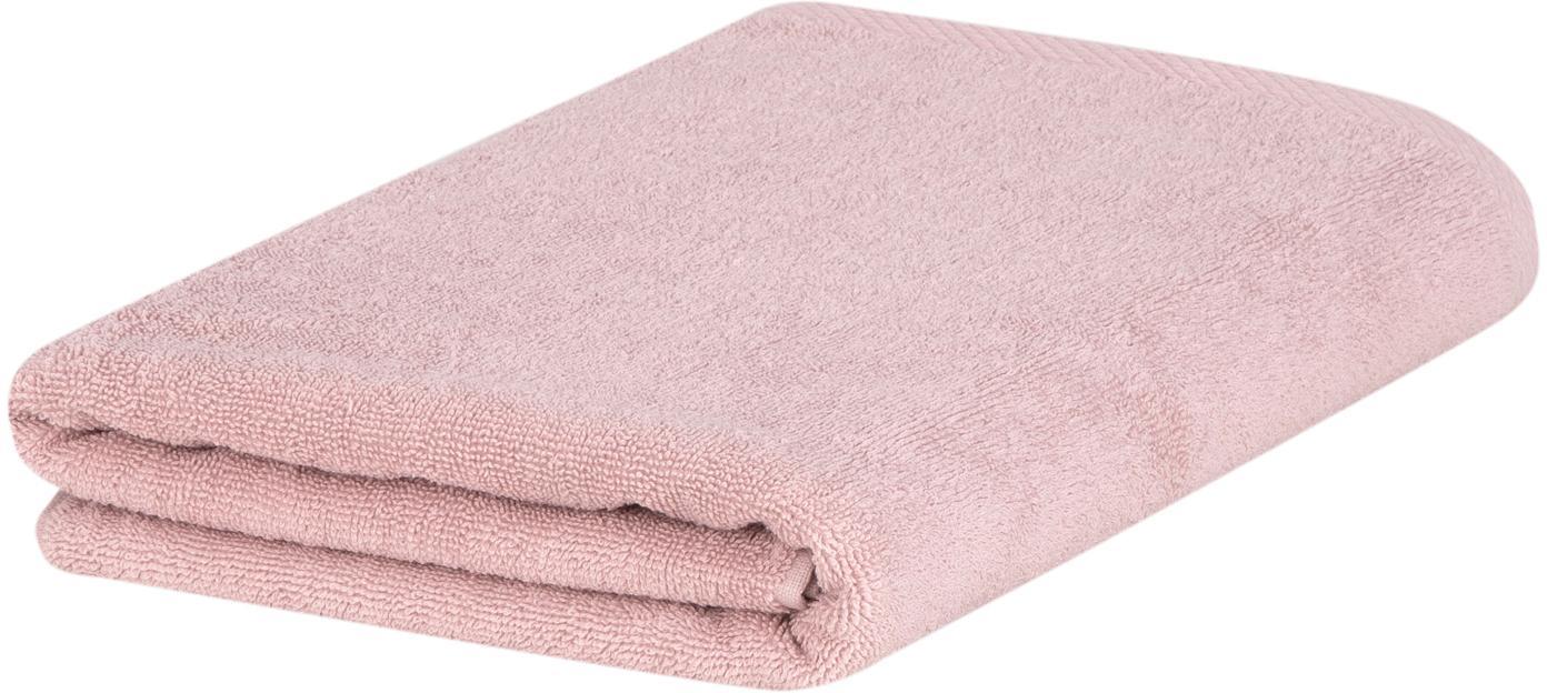 Eenkleurige handdoek Comfort, 100% katoen, middelzware kwaliteit, 450 g/m², Oudroze, Gastendoekje