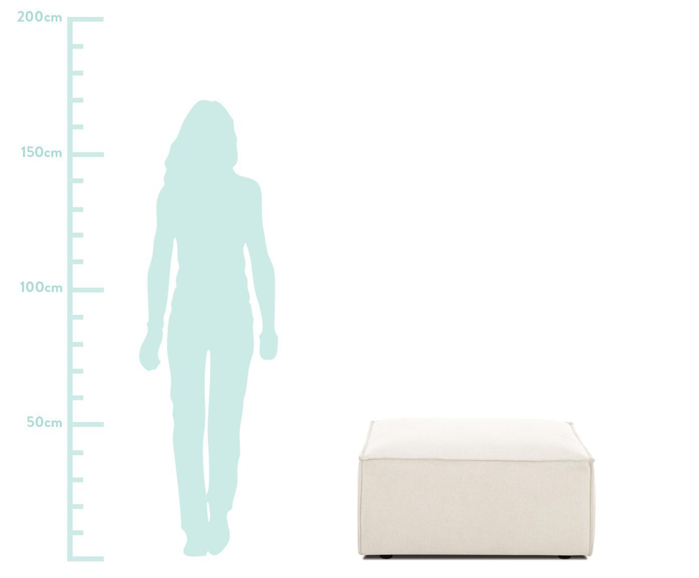 Sofa-Hocker Lennon, Bezug: Polyester Der hochwertige, Gestell: Massives Kiefernholz, Spe, Füße: Kunststoff, Webstoff Beige, 88 x 43 cm