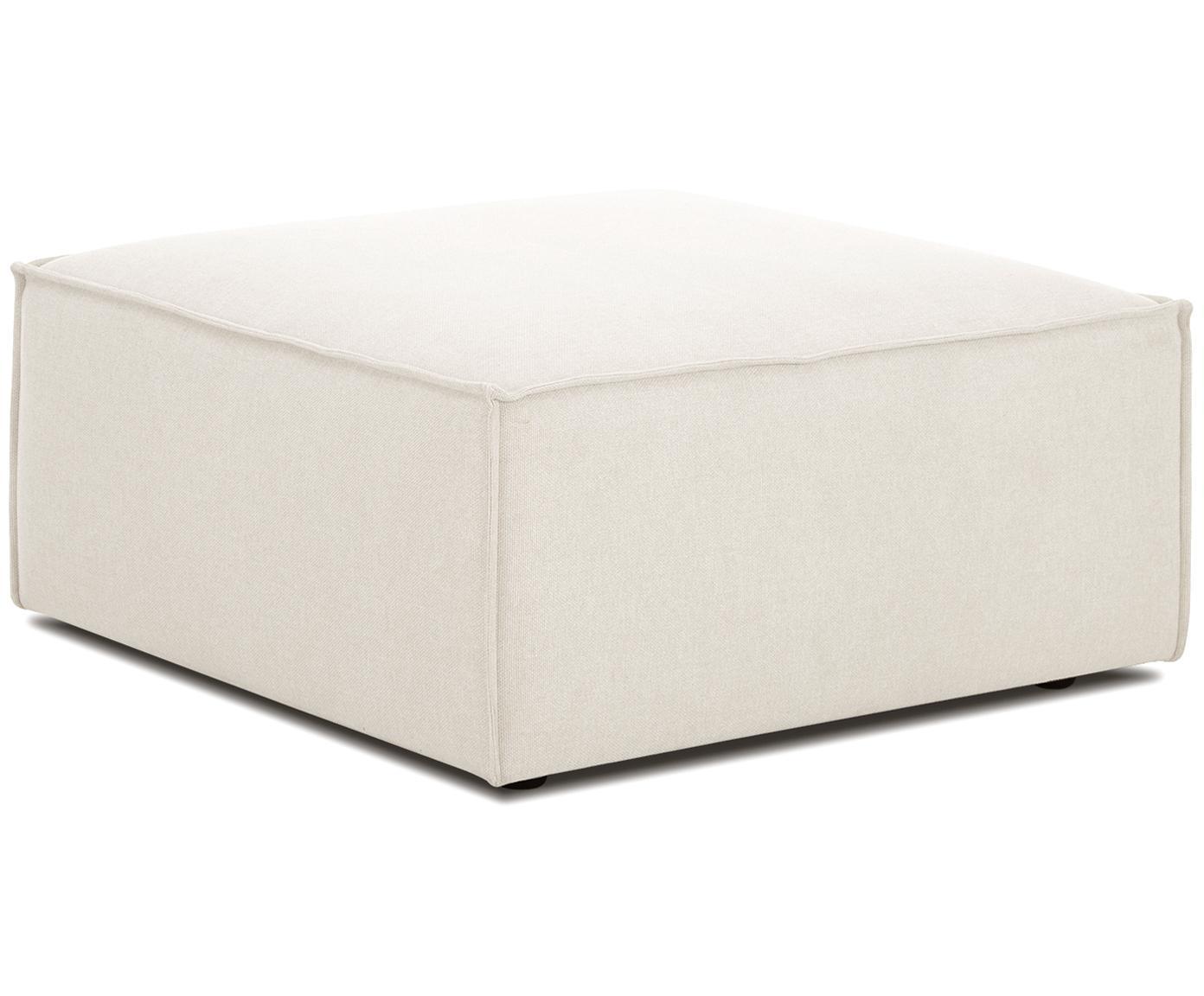 Poggiapiedi da divano Lennon, Rivestimento: poliestere 35.000 cicli d, Struttura: legno di pino massiccio, , Piedini: materiale sintetico, Tessuto beige, Larg. 88 x Alt. 43 cm