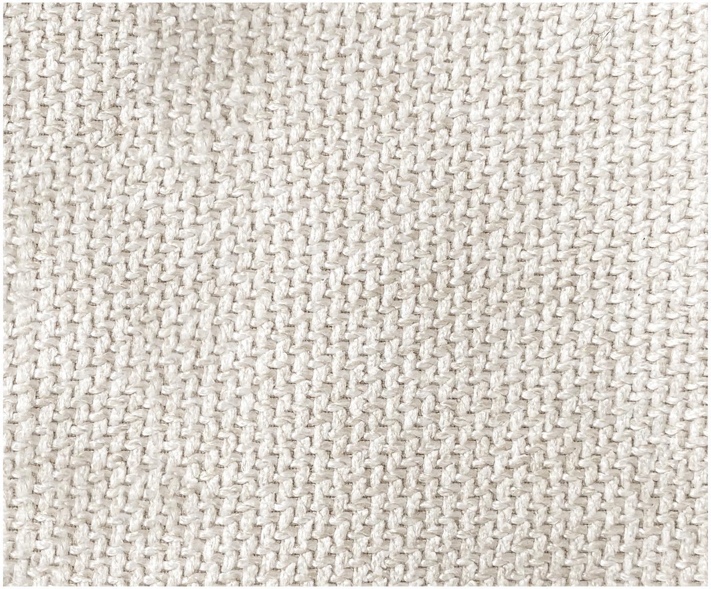 Puf Lennon, Tapicerka: poliester 35 000 cykli w , Stelaż: lite drewno sosnowe, skle, Nogi: tworzywo sztuczne, Beżowy, S 88 x W 43 cm