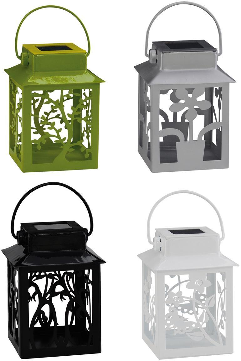 Farolillos solares LED Garden-Lantern, 4uds., Estructura: metal, recubierto, Multicolor, L 8 x Al 13 cm