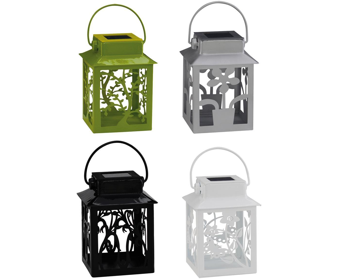 Set 4 lanterne solari a LED Garden-Lantern, Metallo, materiale sintetico, Multicolore, Larg. 8 x Alt. 13 cm