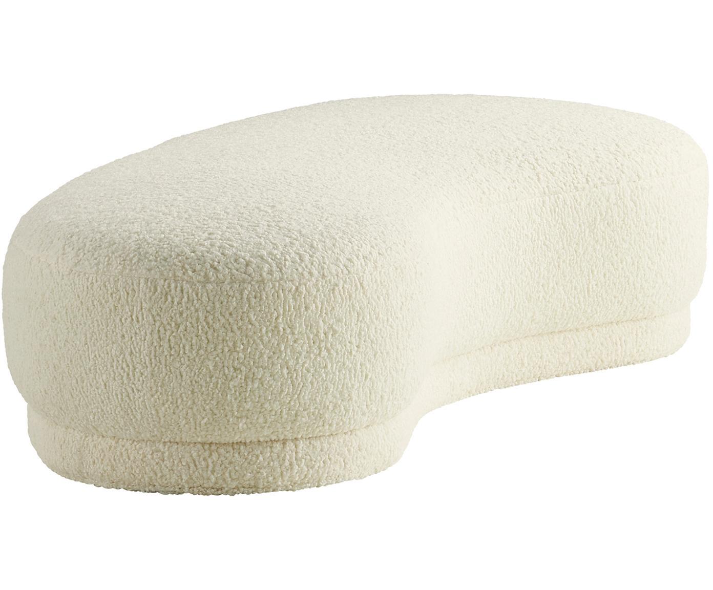 Ławka Teddy Austin, Tapicerka: poliester (Teddy), Stelaż: drewno sosnowe, Kremowobiały teddy, S 160 x W 36 cm