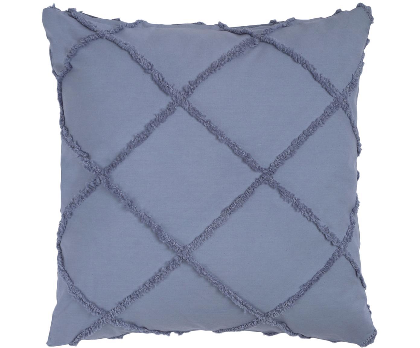 Federa arredo King, Cotone, Blu, Larg. 45 x Lung. 45 cm