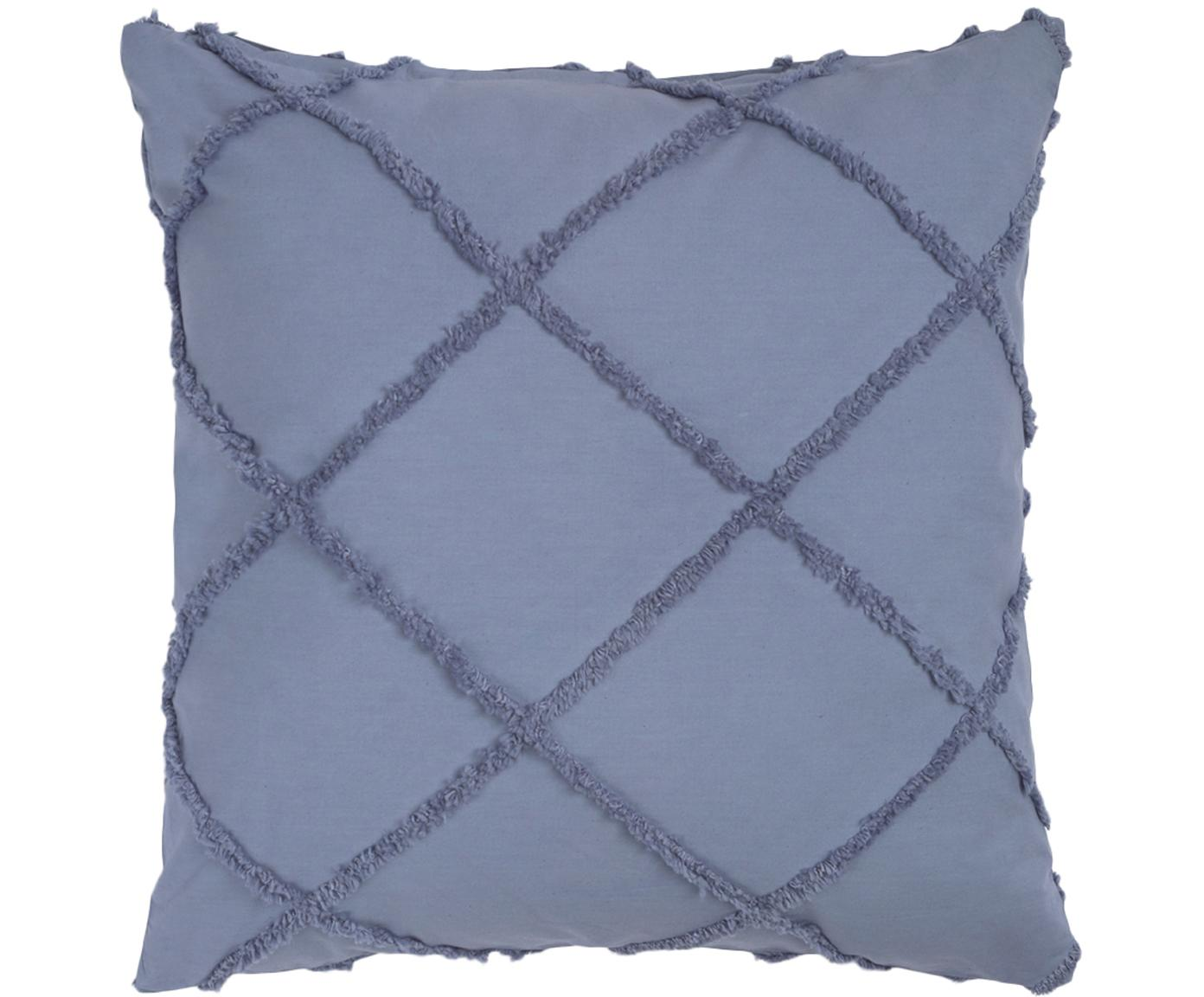 Poszewka na poduszkę King, Bawełna, Niebieski, S 45 x D 45 cm