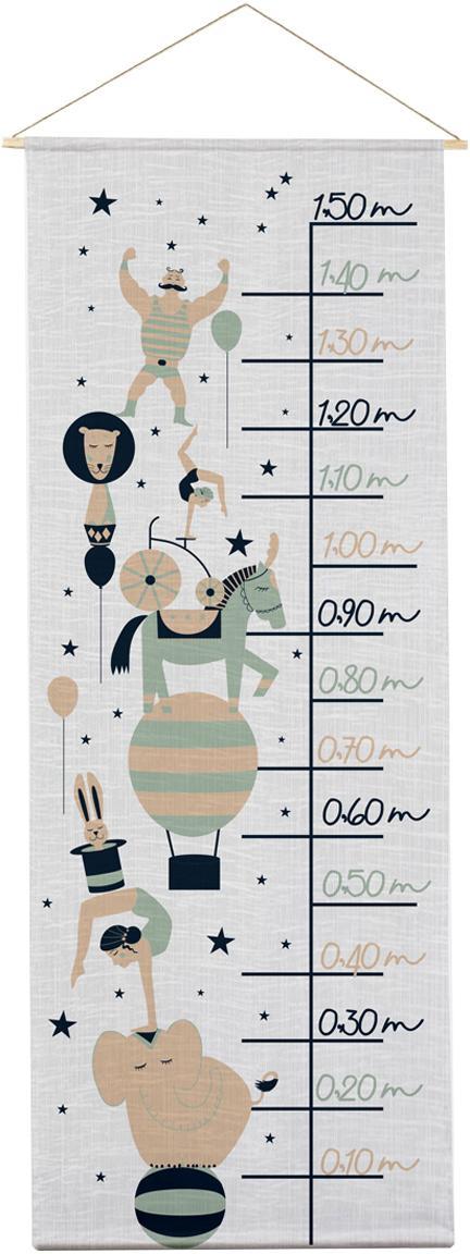 Medidor altura Circus, Poliéster (microfibra), Gris, negro, verde, beige, An 40 x Al 155 cm