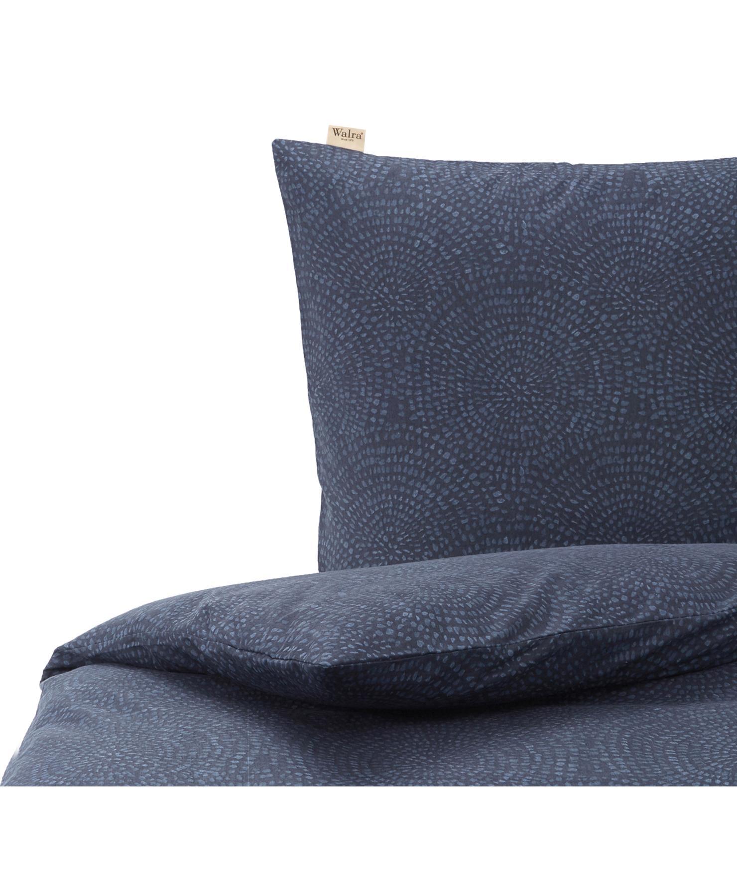 Flanell-Bettwäsche Winter Curves, Webart: Flanell Flanell ist ein s, Dunkelblau, Blau, 135 x 200 cm + 1 Kissen 80 x 80 cm