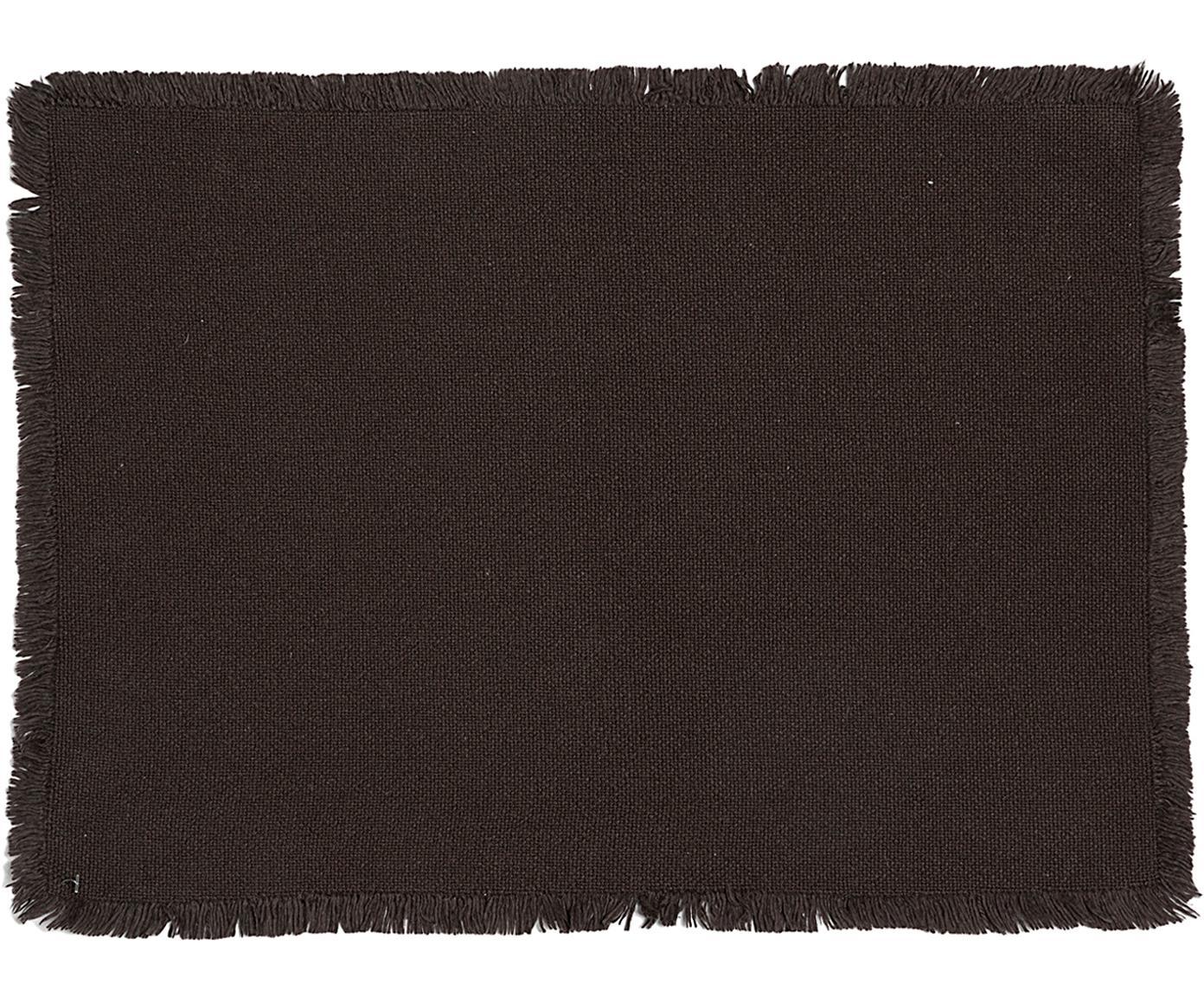 Podkładka Kivia, 2 szt., Bawełna, Antracytowy, S 35 x D 45 cm