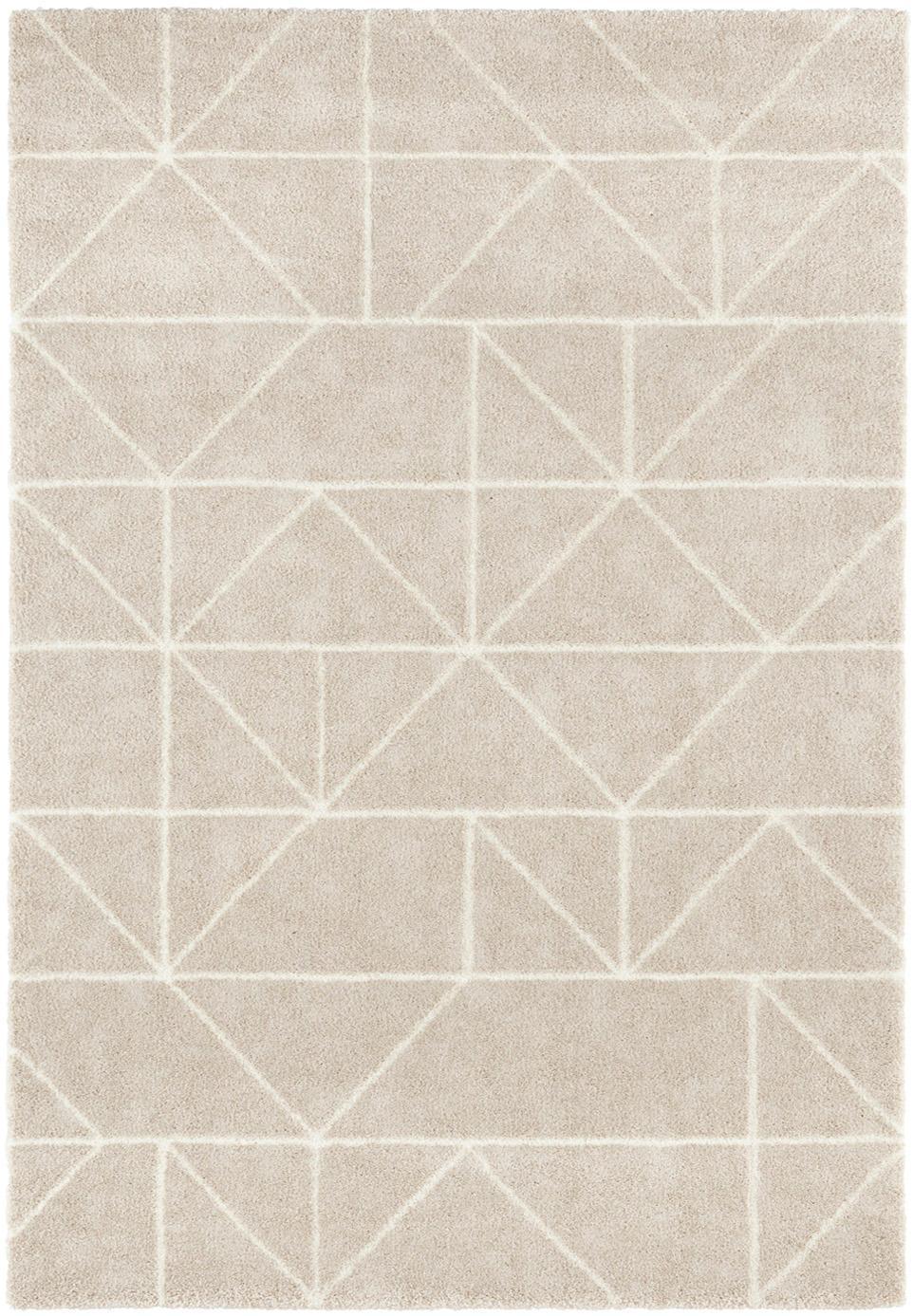 Teppich Arles in Beige-Creme, mit grafischem Muster, Flor: 85% Polypropylen, 15% Pol, Beige, Creme, B 160 x L 230 cm (Grösse M)
