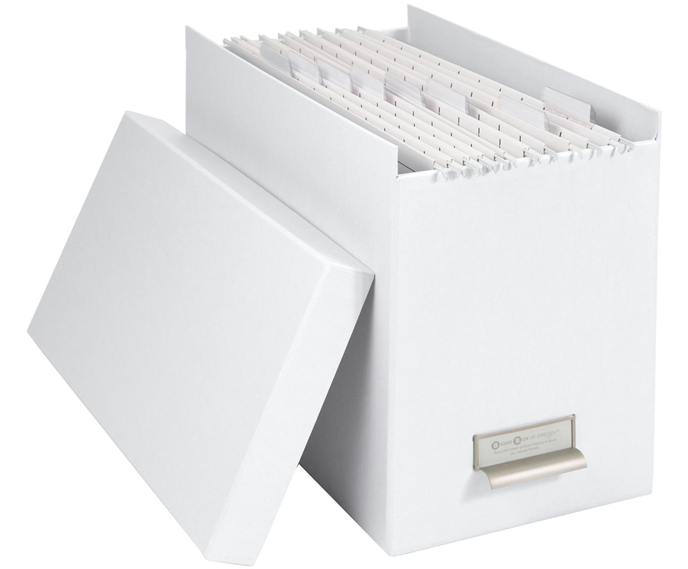 Archiefdoos Johan, 9-delig., Organizer: stevig gelamineerd karton, Organizer buitenzijde: wit. Organizer binnenzijde: wit, 19 x 27 cm