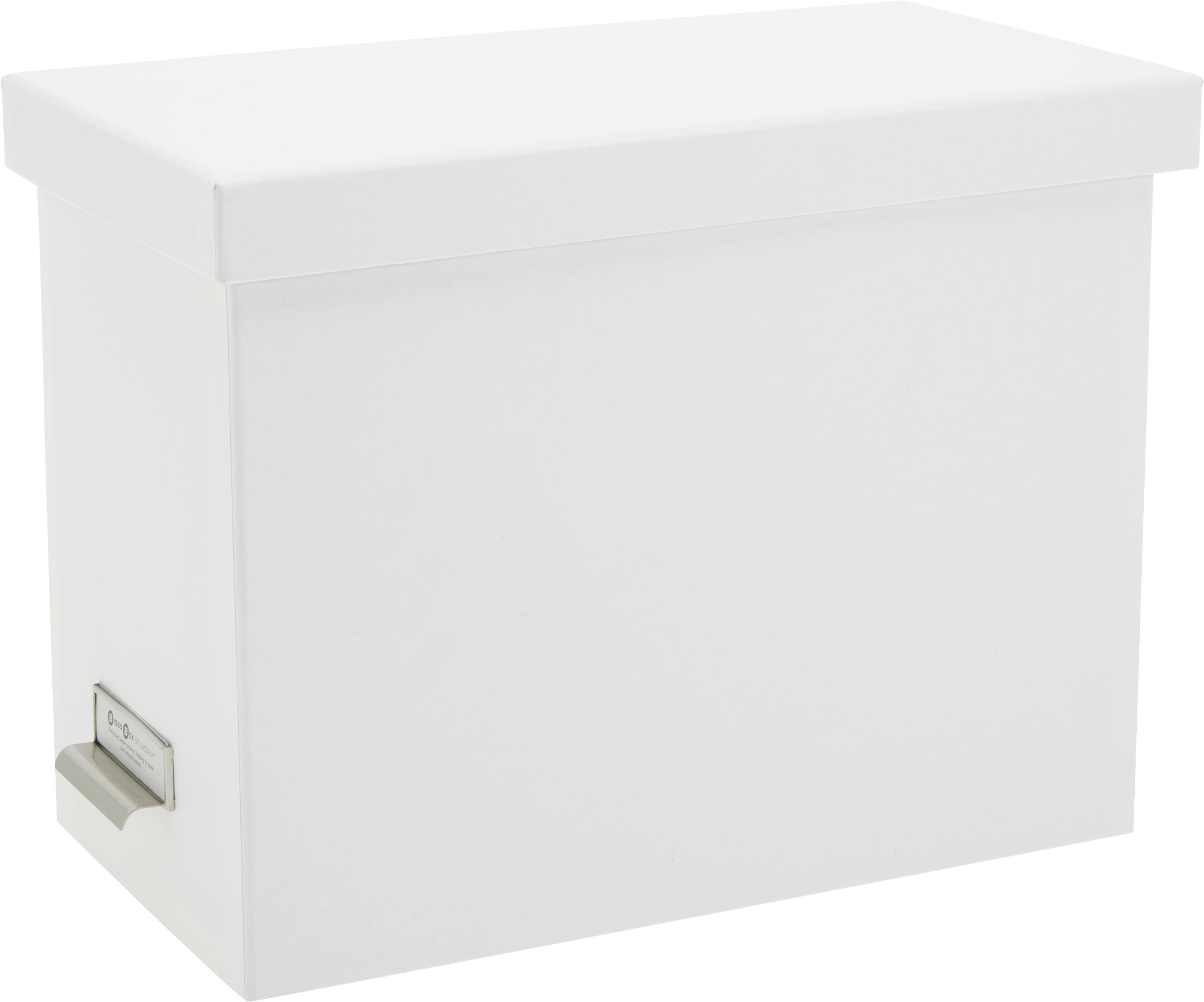 Hängeregister-Box Johan, 9-tlg., Organizer: Fester, laminierter Karto, Organizer aussen: WeissOrganizer innen: Weiss, 19 x 27 cm