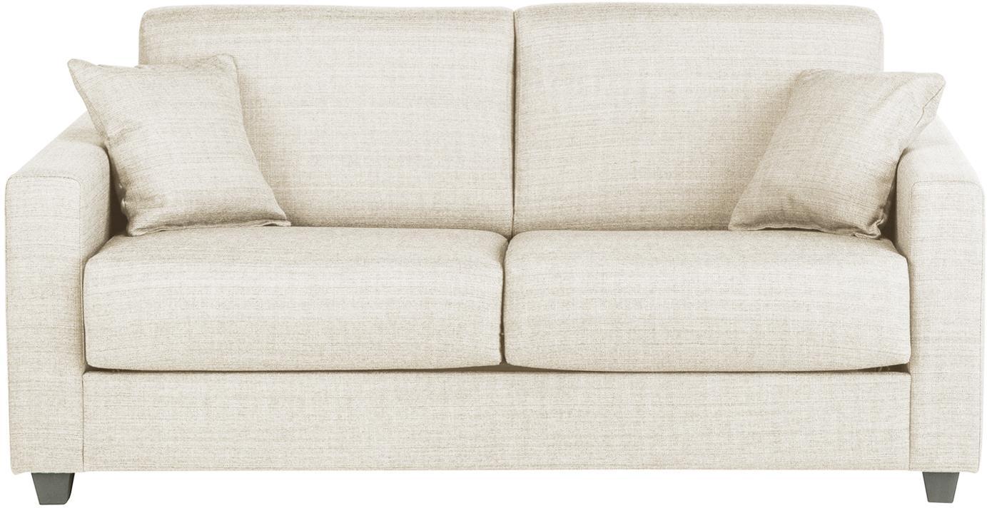 Sofá cama Maria, Tapizado: 40%algodón, 20%lino, 20, Patas: plástico, Estructura: tablero de fibras de dens, Tejido crema, An 180 x F 97 cm