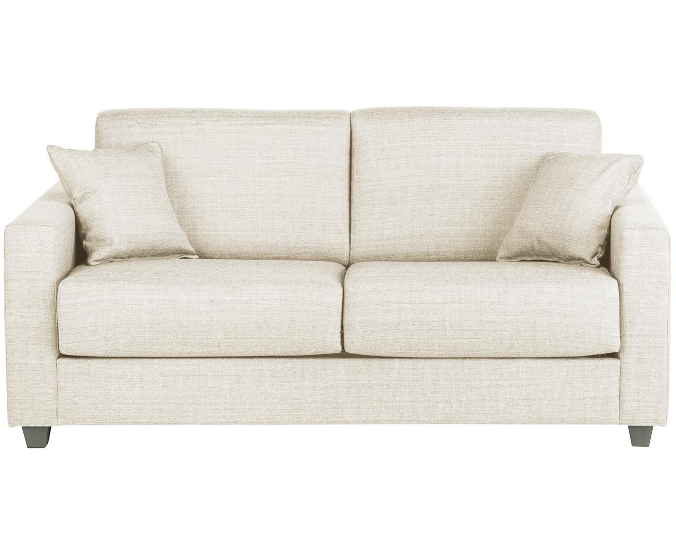 Sofá cama Maria, Tapizado: 40%algodón, 20%lino, 20, Patas: plástico, Estructura: tablero de fibras de dens, Crema, An 180 x F 97 cm