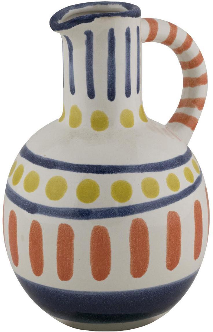 Große bemalte Vase Majorelle aus Keramik, Keramik, Mehrfarbig, 15 x 20 cm