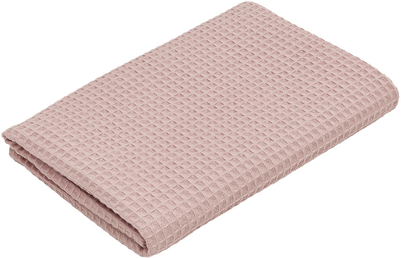 Leichtes Waffelpiqué-Handtuch Karima, verschiedene Größen, Altrosa, Duschtuch