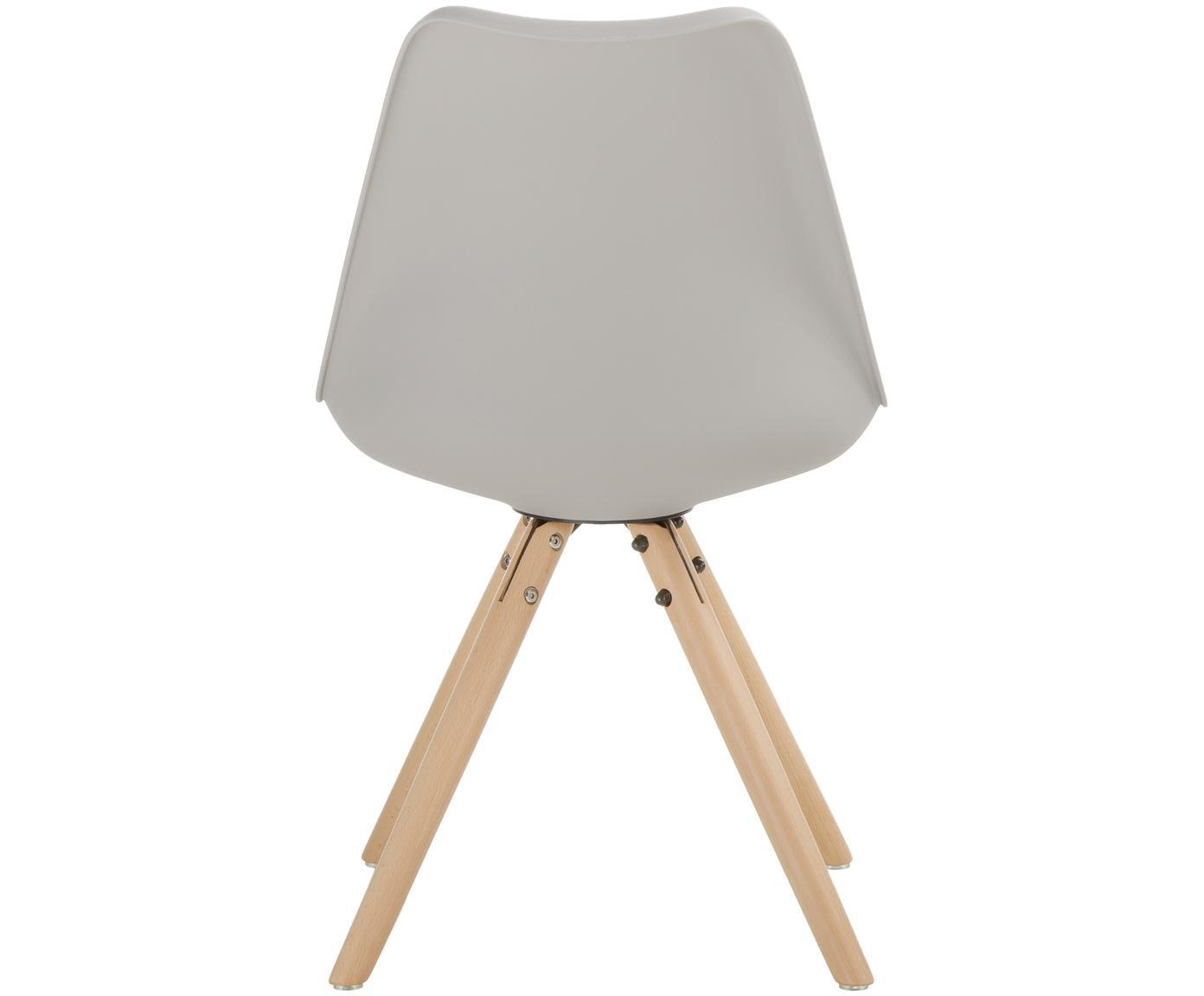 Krzesło Max, 2 szt., Nogi: drewno bukowe, Beżowoszary, S 46 x G 54 cm