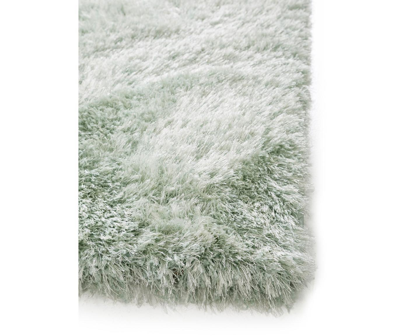 Glänzender Hochflor-Teppich Lea in Grün, 50% Polyester, 50% Polypropylen, Grün, B 300 x L 400 cm (Größe XL)