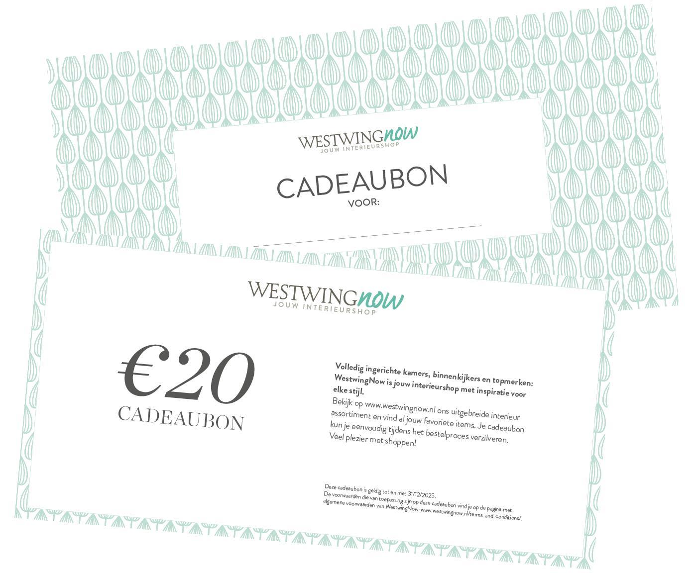 Cadeaubon, Cadeaubon op hoogwaardig papier, Wit, 20