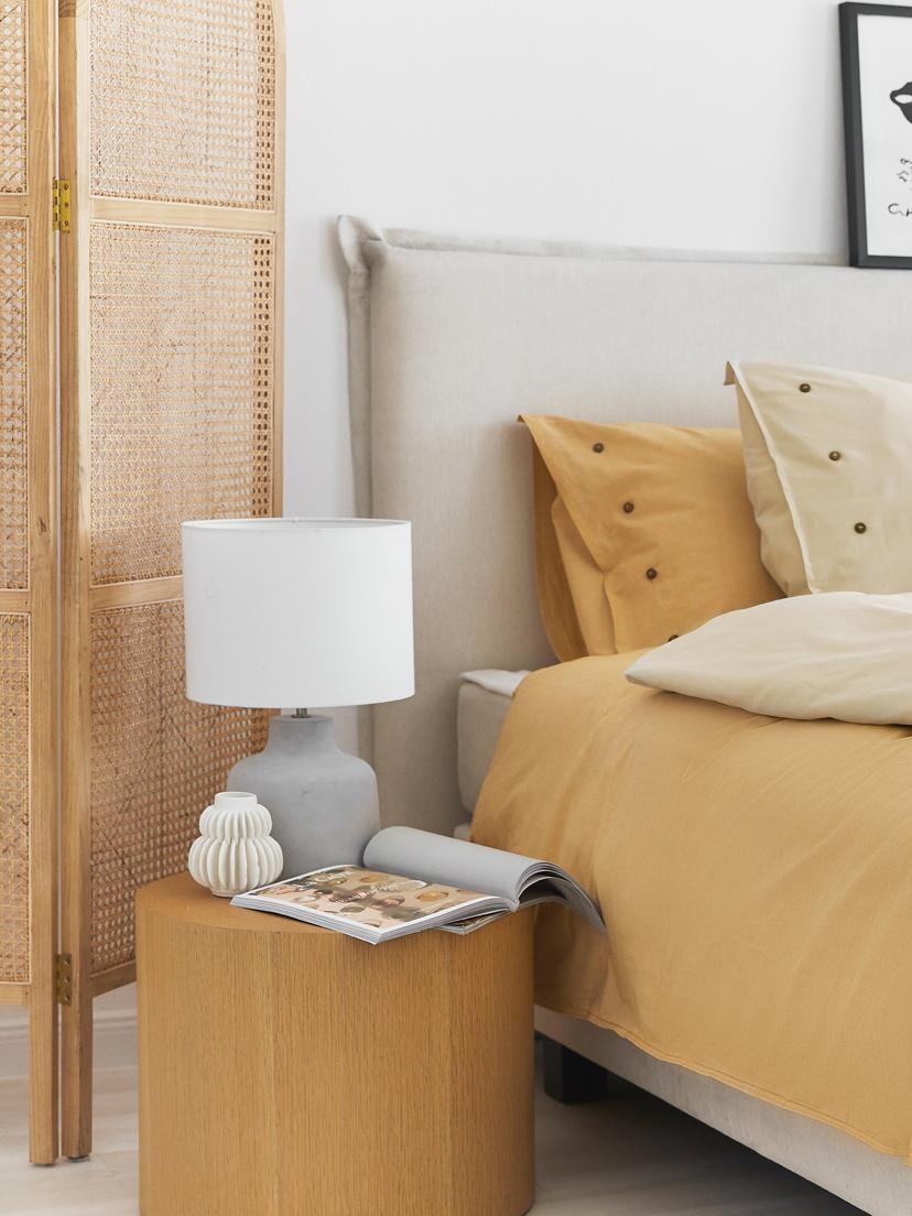 Lampa stołowa z betonu Ike, Betonowy, biały, Ø 30 x W 45 cm