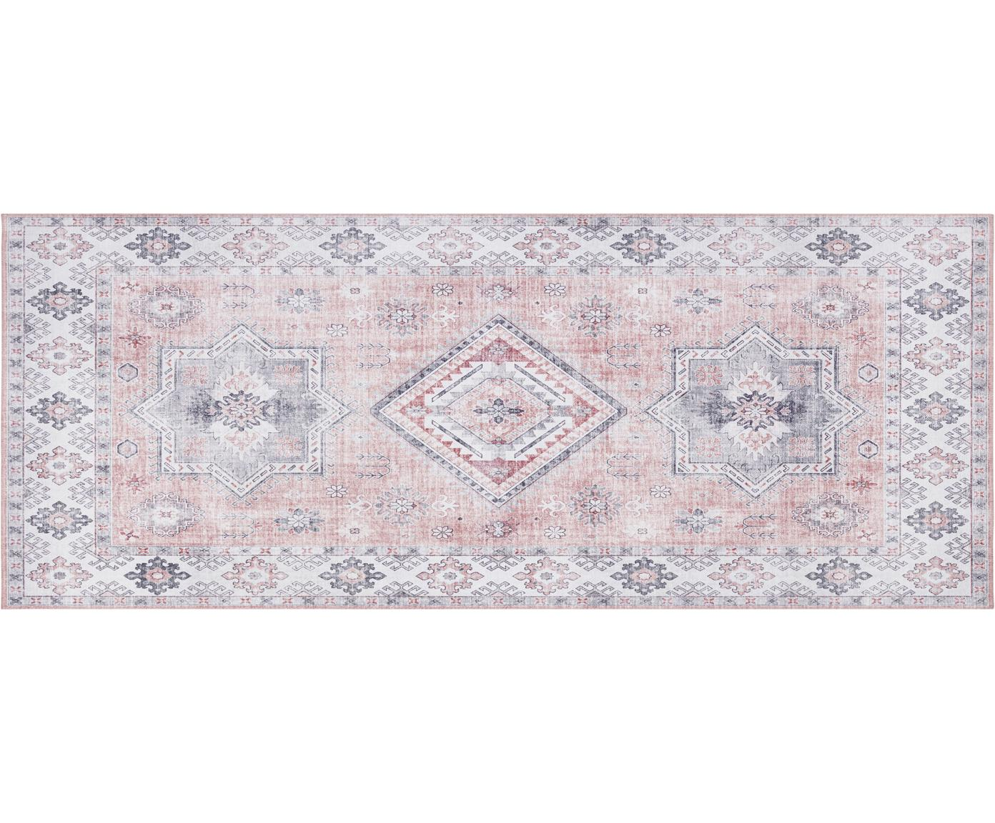 Läufer Gratia im Vintage Style, Altrosa, Grau, 80 x 200 cm