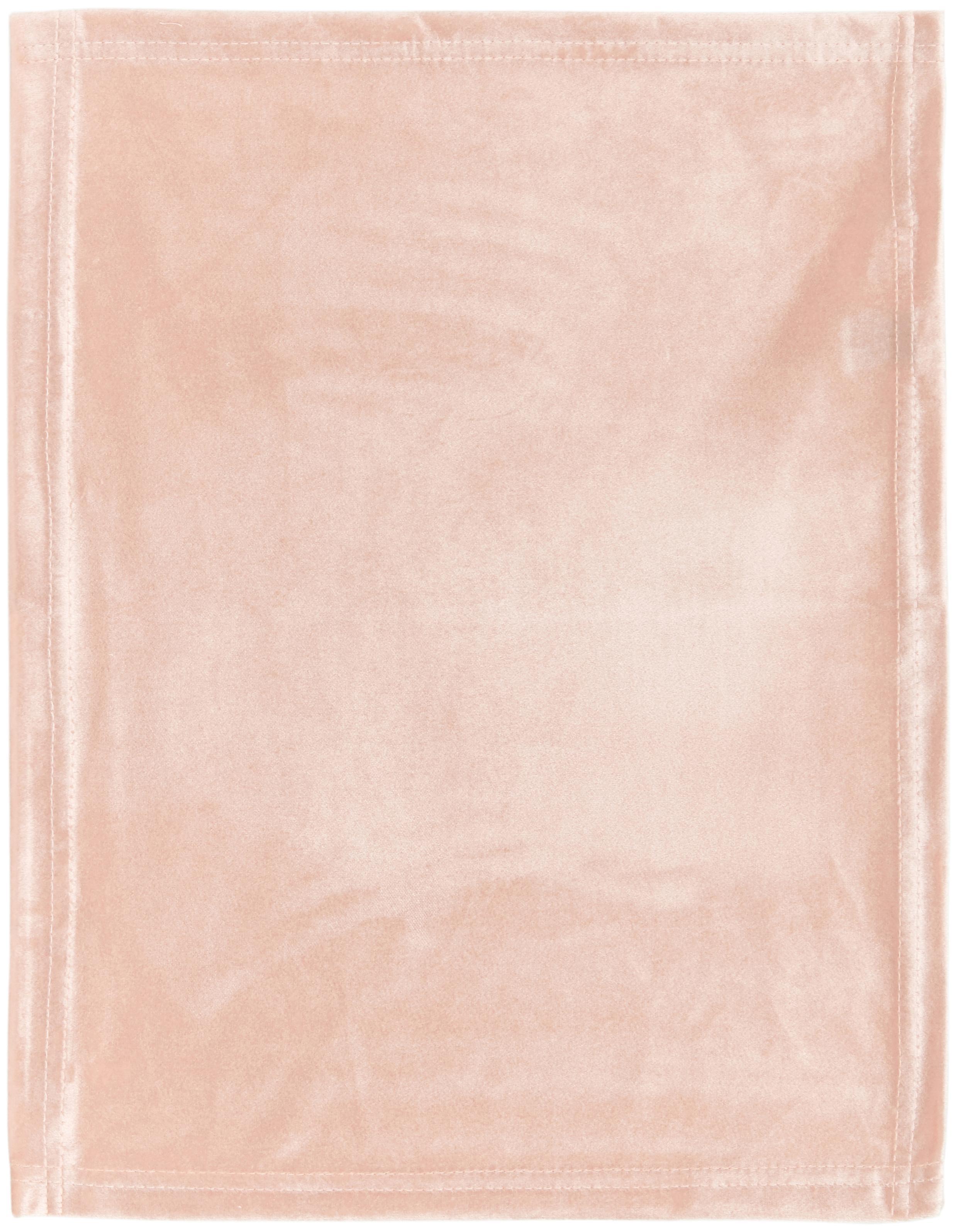 Tovaglietta americana in velluto Simone 2 pz, Velluto di poliestere, Rosa, Larg. 35 x Lung. 45 cm