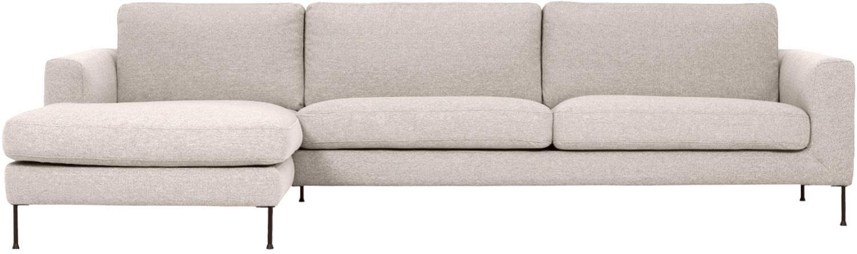 Sofá rinconero Cucita (4plazas), Tapizado: tejido (poliéster) 100.00, Estructura: madera de pino maciza, Tejido beige, An 302 x F 163 cm