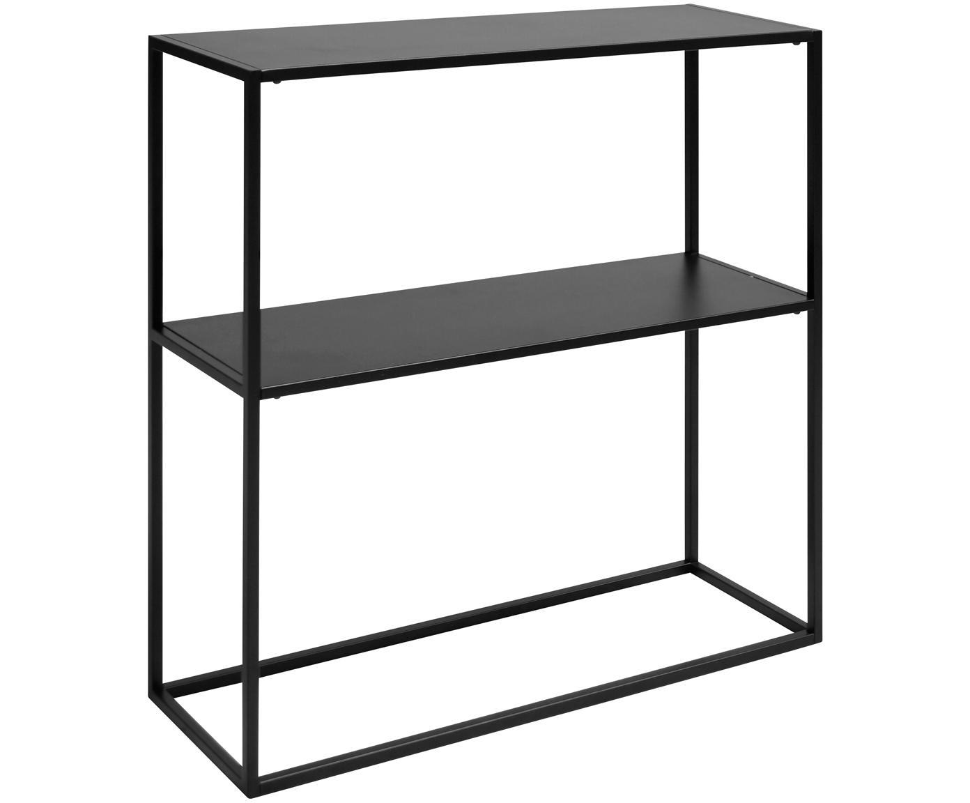 Regał z metalu Newton, Metal malowany proszkowo, Czarny, S 80 x W 80 cm
