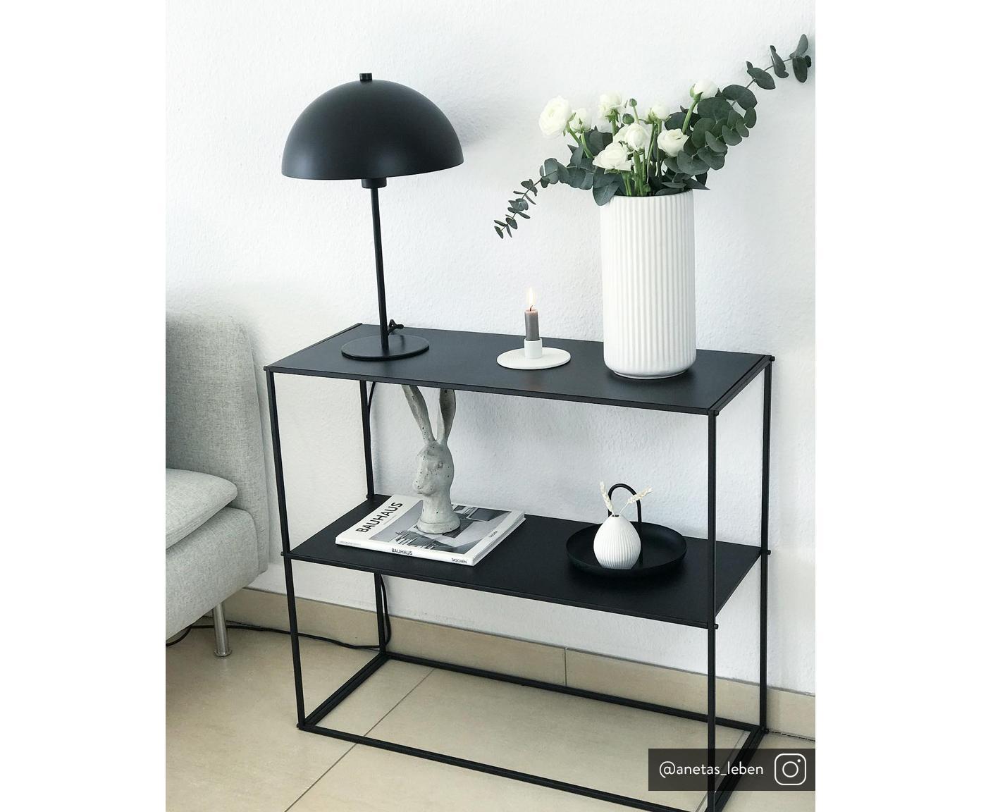 Estantería de metal Newton, Metal con pintura en polvo, Negro, An 80 x Al 80 cm
