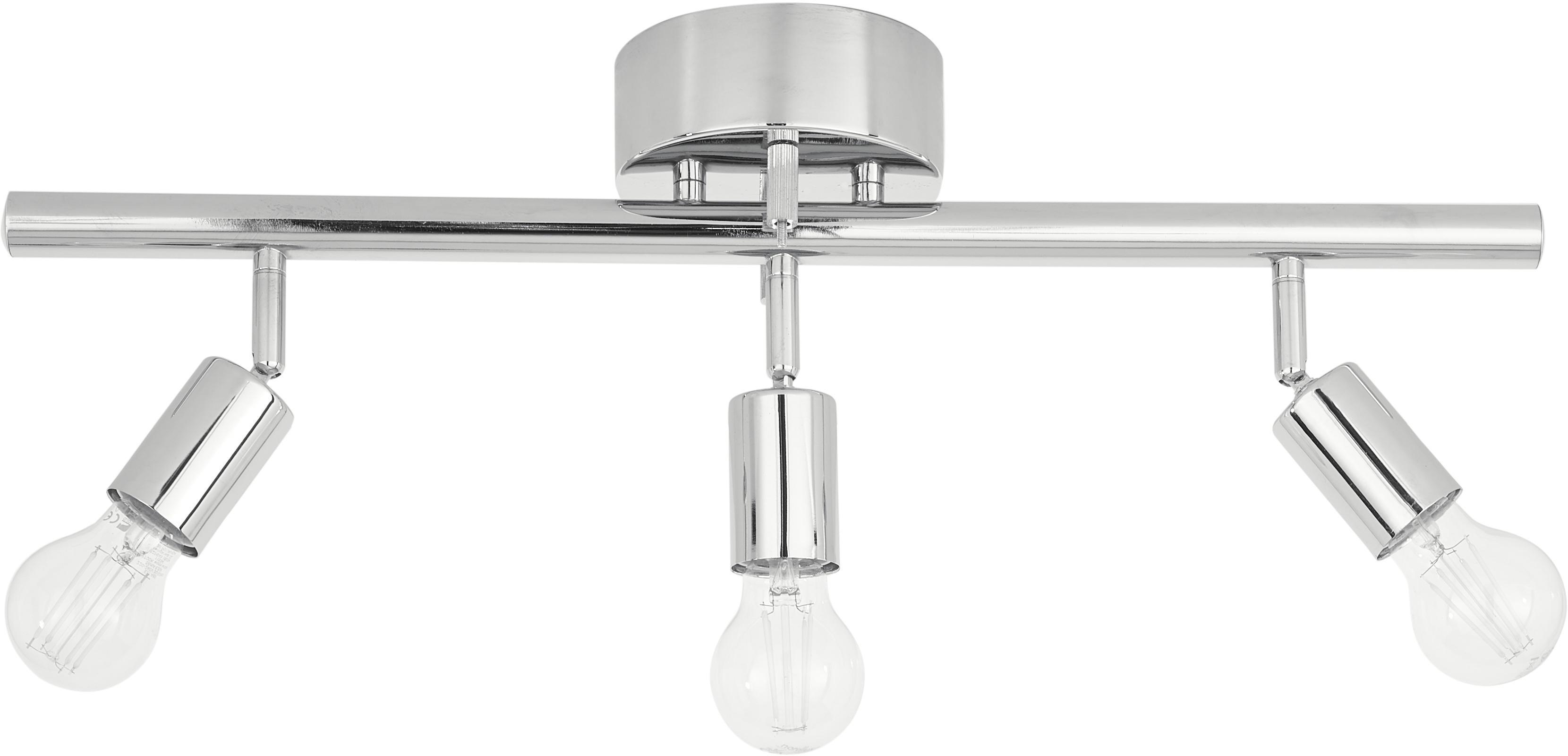 Faretti da soffitto in argento Row, Metallo cromato, Cromo, Larg. 60 x Alt. 20 cm