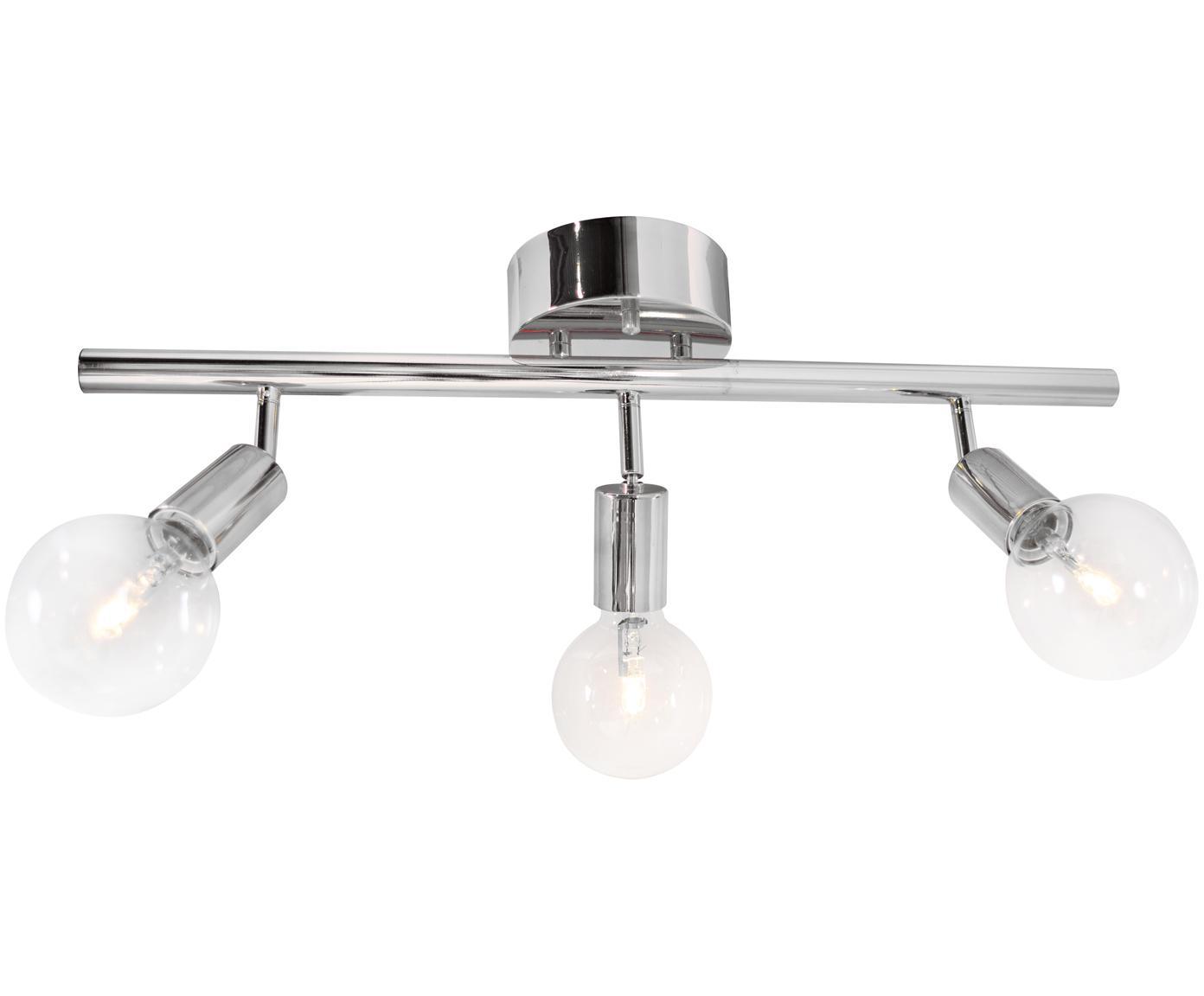 Lampa sufitowa Row, Metal chromowany, Chrom, S 60 x W 20 cm