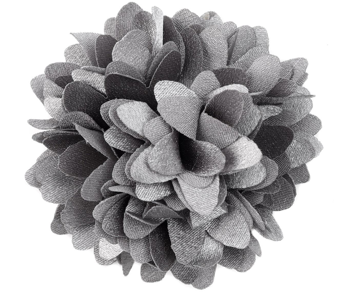 Decoratieve bloemen Flor, 6 stuks, Polyester, Grijs, Ø 6 cm