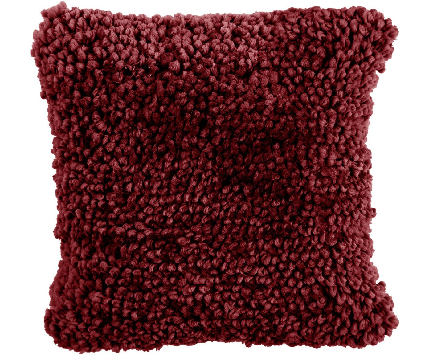 Kissen Oscar, mit Inlett, Bezug: 95% Baumwolle, 5% Acryl, Burgund, 50 x 50 cm