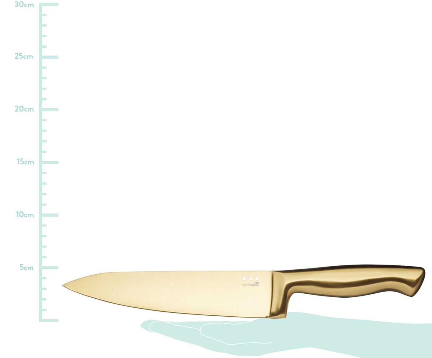 Komplet noży Master Class, 6-szt., Stal powlekana, Czarny, odcienie mosiądzu, Różne rozmiary