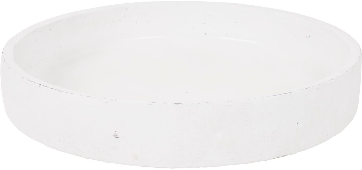 Tablett Formentera, Beton, Weiß, Ø 30 cm