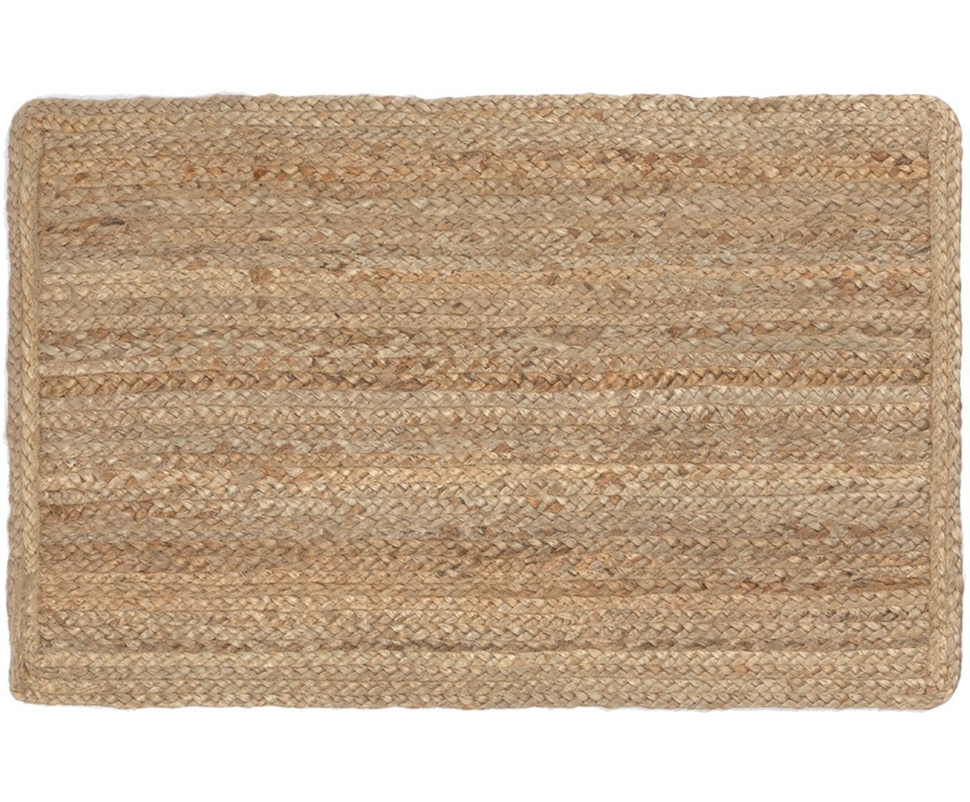 Jute-Fussmatte Ural, 100% Jute, Beige, 45 x 75 cm