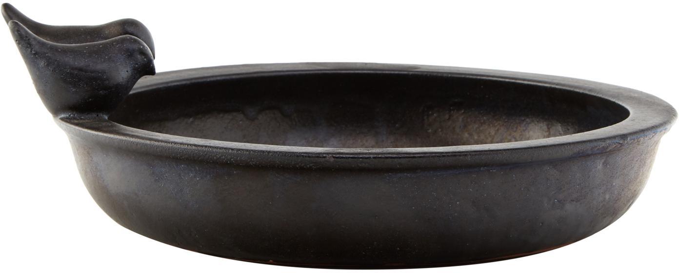 Vogeltränke Keram, Keramik, Schwarz, 33 x 11 cm
