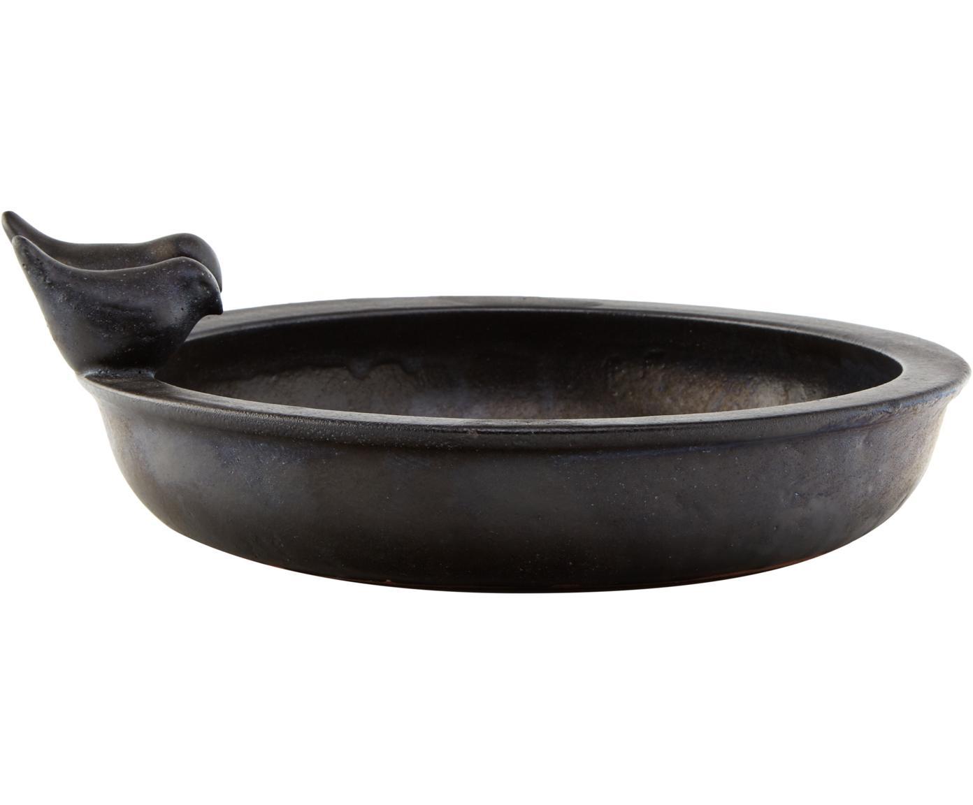 Vasca per uccelli Keram, Ceramica, Nero, Larg. 33 x Alt. 11 cm