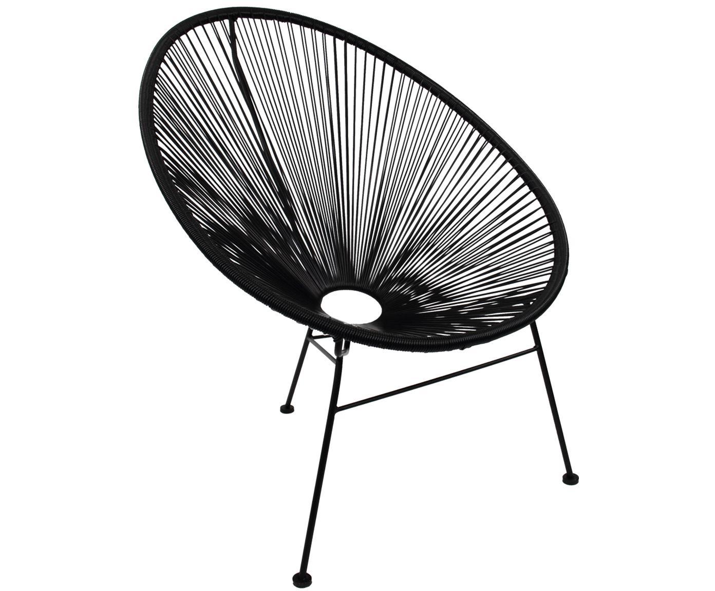 Krzesło ogrodowe Mailand, Siedzisko: czarny<br>Rama: czarny, malowana proszkowo, 81 x 88 cm