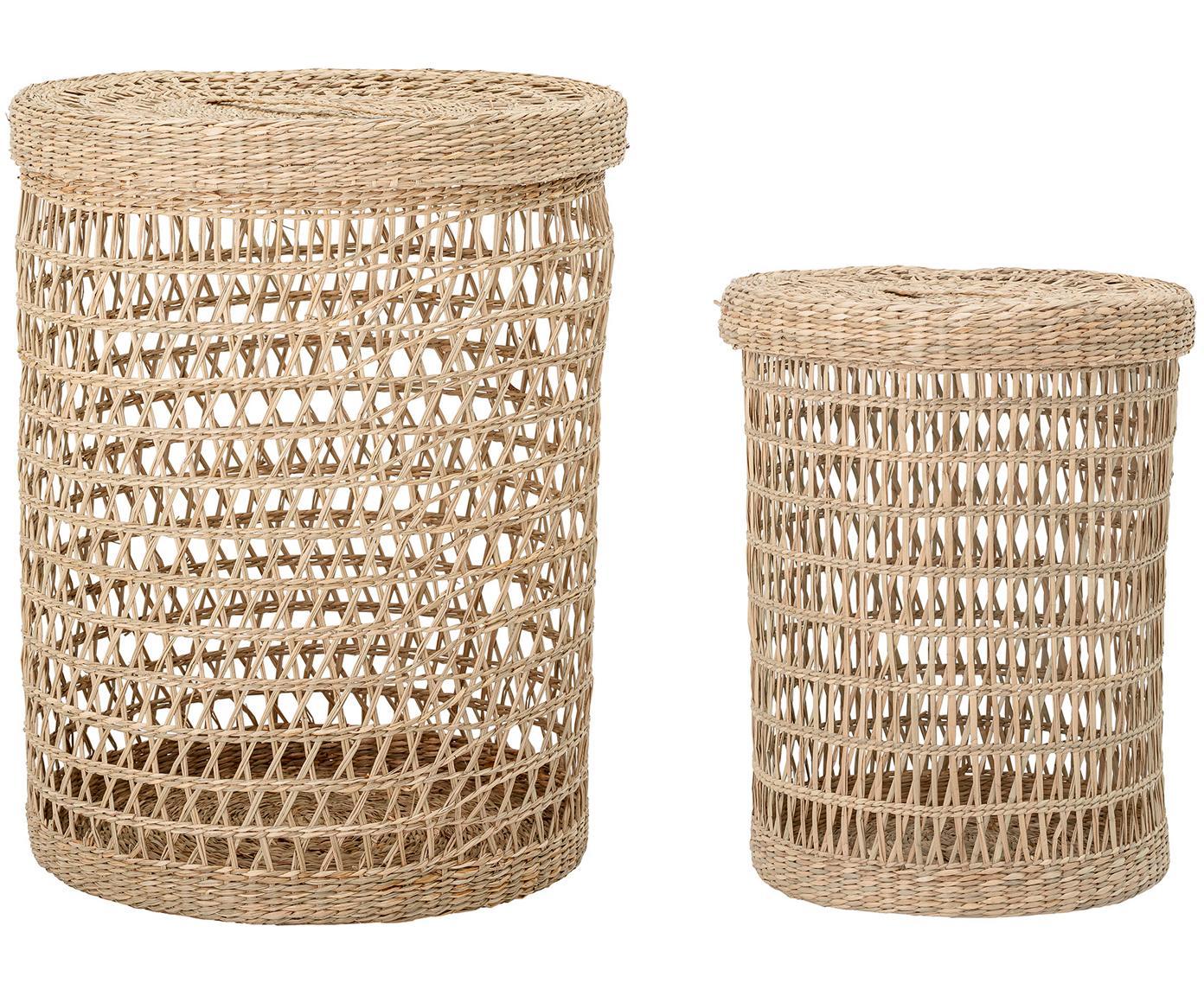 Set de cestas Beta, Fibra natural, Beige, Tamaños diferentes