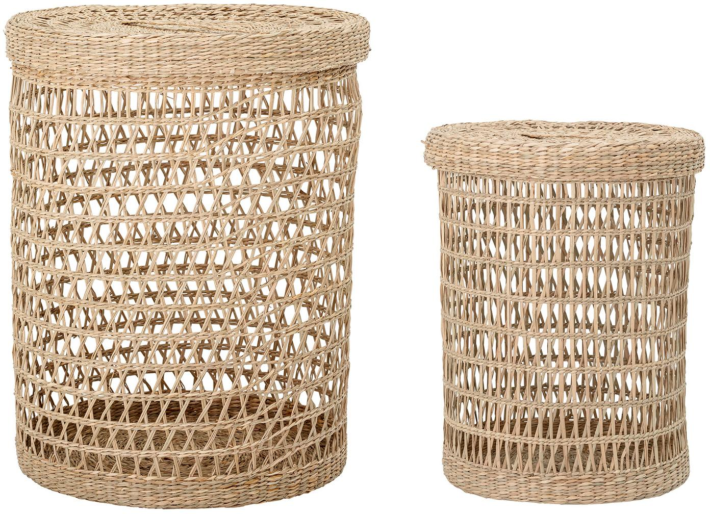 Set de cestas Beta, Fibra natural, Beige, Set de diferentes tamaños