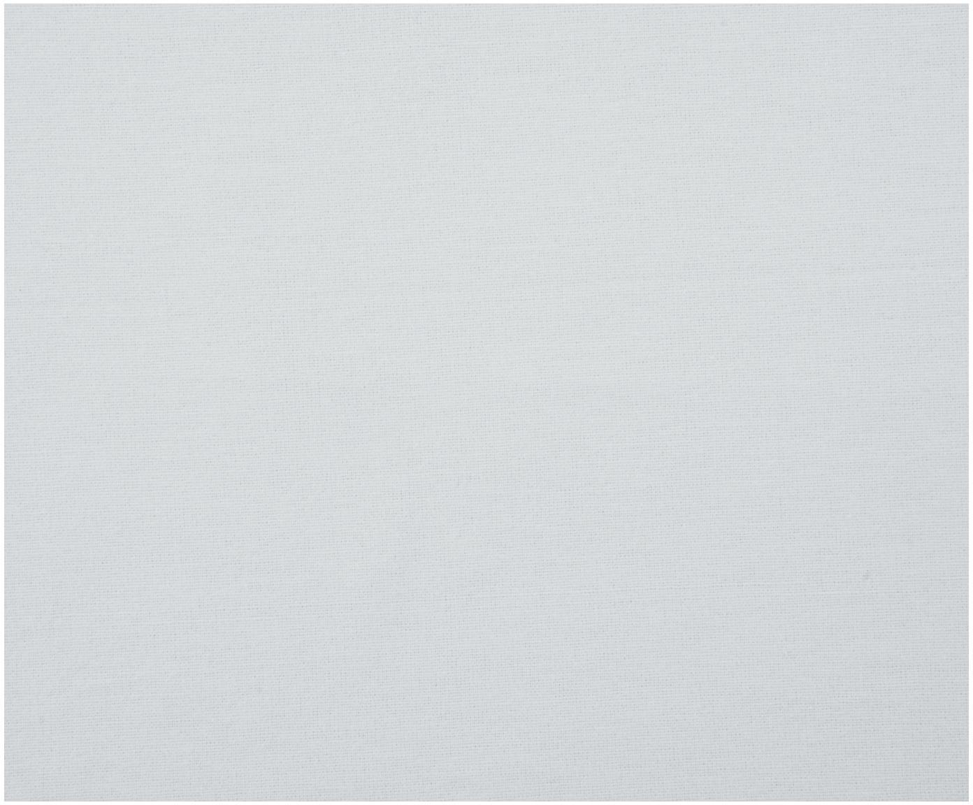 Prześcieradło z gumką z flaneli Biba, Jasny szary, S 180 x D 200 cm