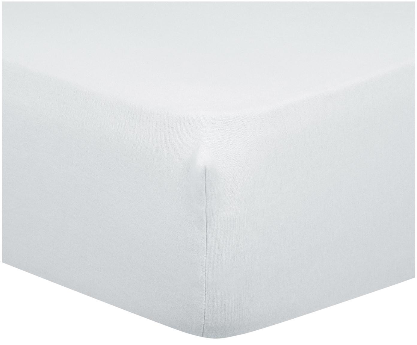 Hoeslaken Biba, flanel, Weeftechniek: flanel, Lichtgrijs, 90 x 200 cm