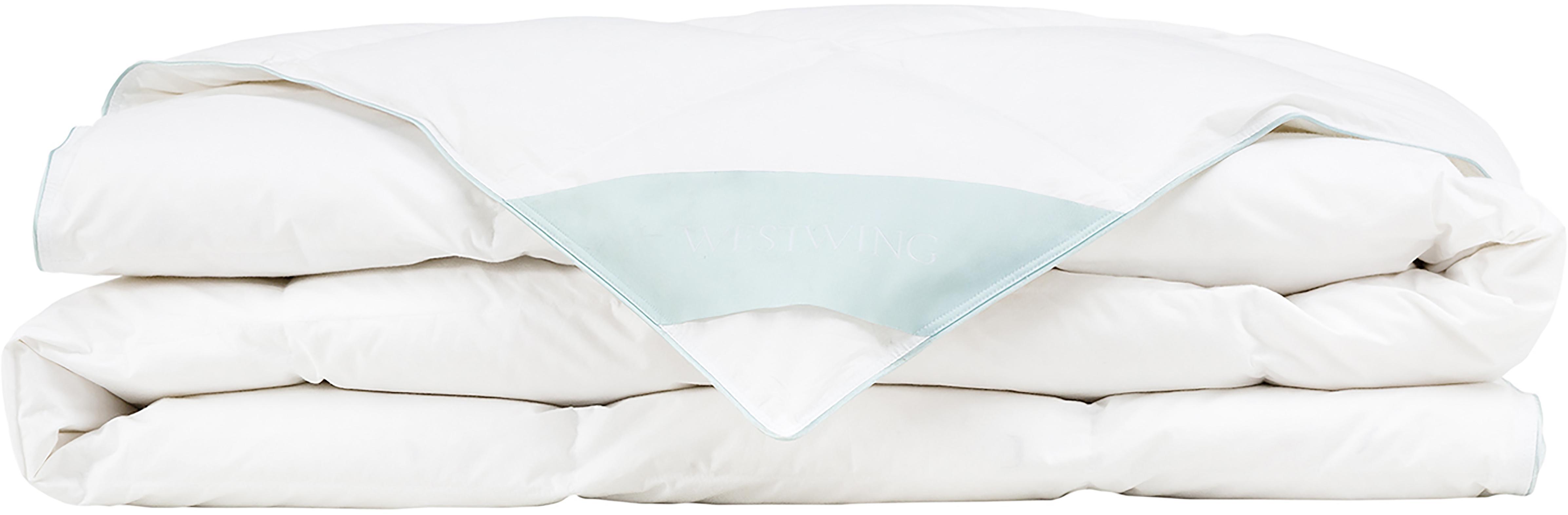 Daunen-Bettdecke Comfort, extra leicht, Hülle: 100% Baumwolle, feine Mak, Weiß, 240 x 220 cm