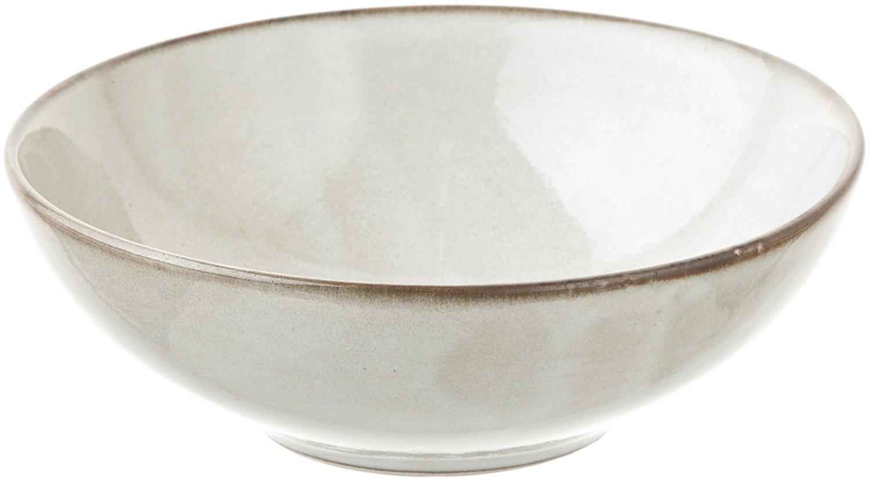 Handgemaakte soepborden Thalia, 2 stuks, Keramiek, Grijs met donkere rand, Ø 18 x H 6 cm