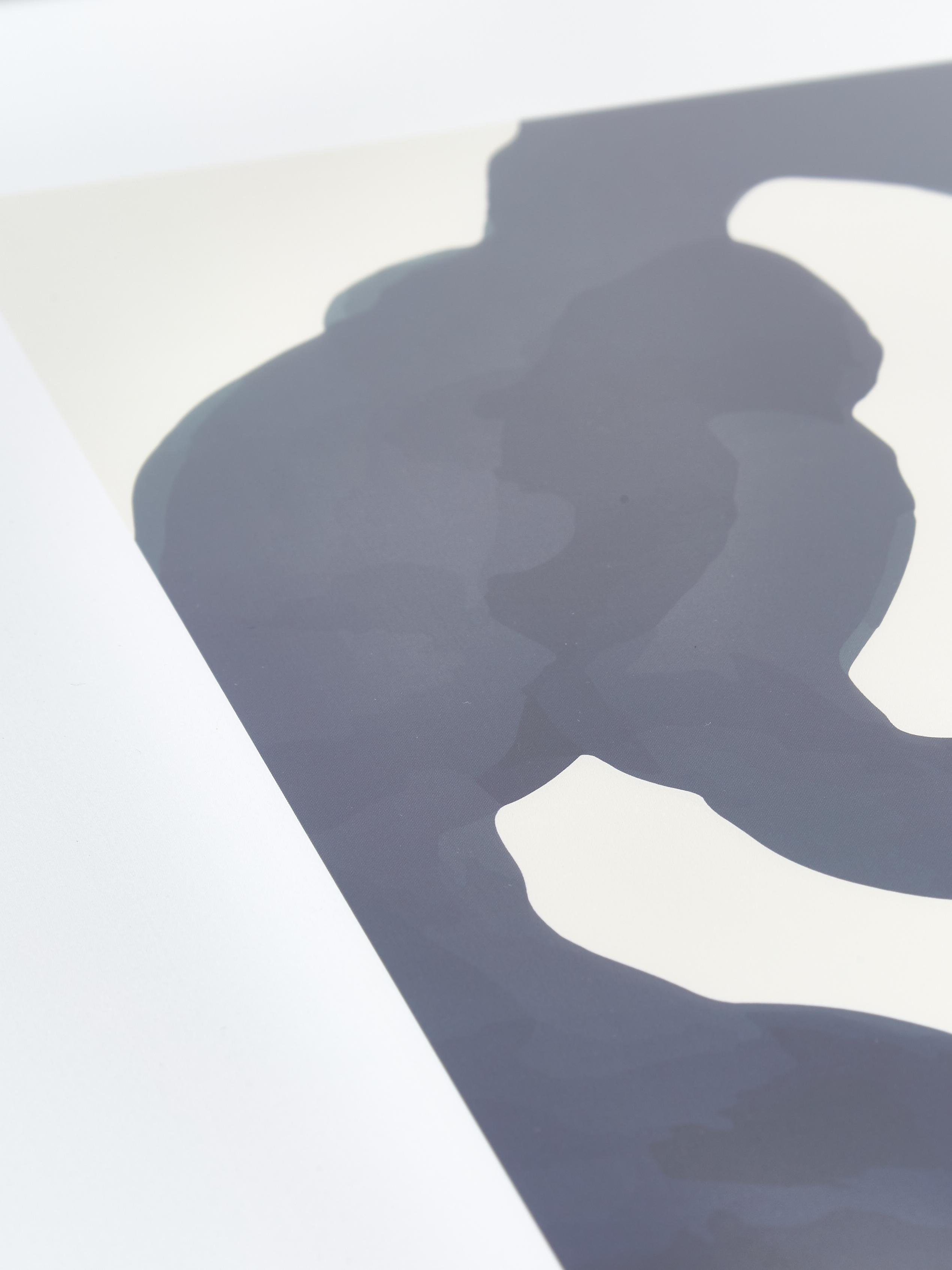 Gerahmter Digitaldruck Greta, Rahmen: Kiefernholz, Bild: Digitaldruck auf Papier, Front: Glas, Schwarz, 52 x 72 cm