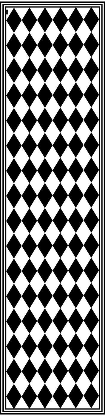 Tappetino in vinile Bobby II, Vinile riciclabile, Nero, bianco, Larg. 65 x Lung. 255 cm